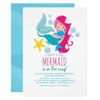 Carte Baby shower doux de sirène