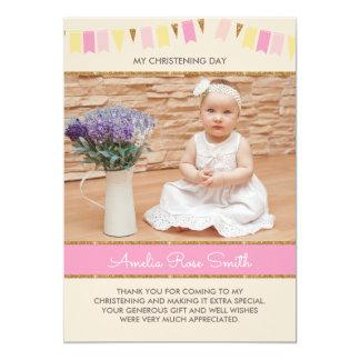Carte Baptême de filles/invitation de baptême