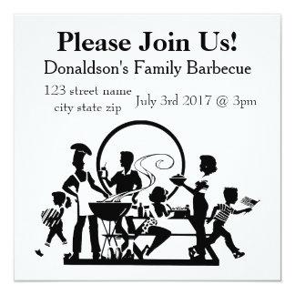 Carte Barbecue personnalisé de famille