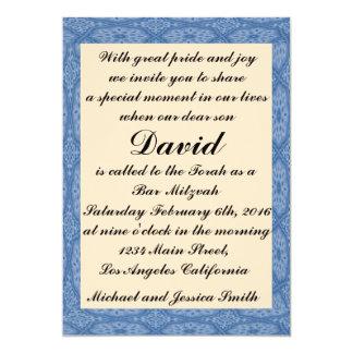 Carte Barre bleue Mitzvah de diamants/invitation