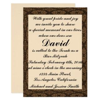 Carte Barre Mitzvah de cadre de diamant/invitation