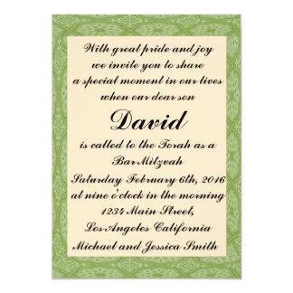 Carte Barre verte Mitzvah de diamant/invitation