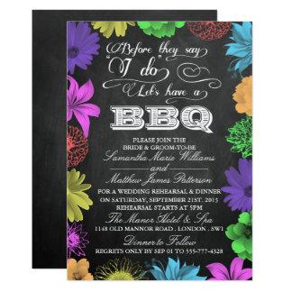 Carte BBQ de barbecue de répétition de wedding shower de