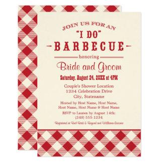 Carte BBQ décontracté de l'invitation   de wedding