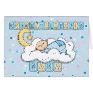 Carte Bébé de félicitations de Nana nouveau