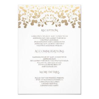 Carte Blanc et information de détails florale de mariage