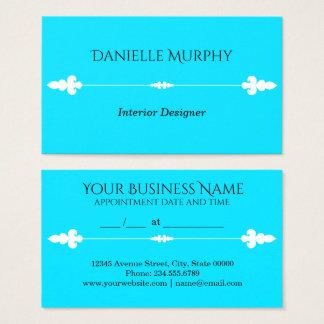 Carte bleue de rendez-vous de conception d'Aqua