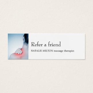 Carte bleue élégante simple de référence de