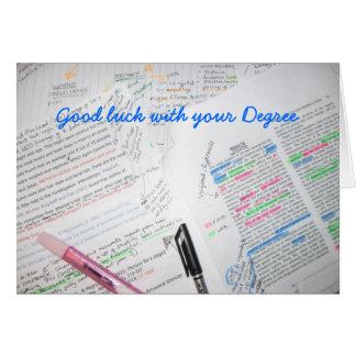 Carte Bonne chance avec votre degré