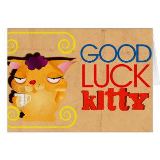 Carte Bonne chance Kitty