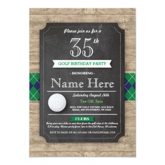 Carte Boule de golf de fête d'anniversaire tout