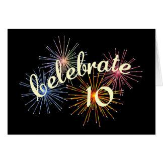 Carte Célébrez un 10ème anniversaire
