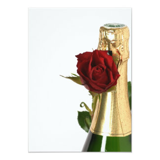 Carte Champagne and Flowers