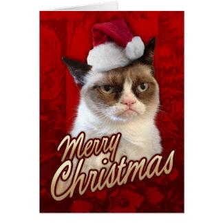 Carte Chat grincheux de Joyeux Noël