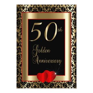 Carte cinquantième Texte de l'anniversaire de mariage