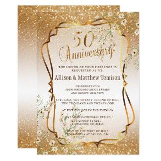 Carte cinquantième Texte de l'anniversaire de mariage de