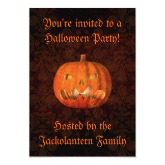 Carte Citrouille de Halloween d'amusement
