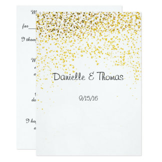 Carte Conseil de mariage, élégant, confettis d'or
