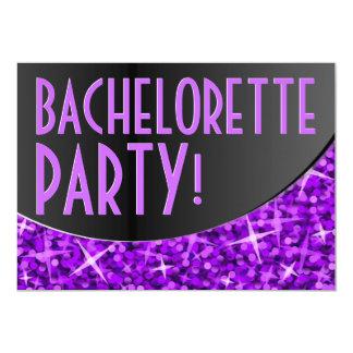 Carte Courbe noire pourpre 'Bachelorette Party de