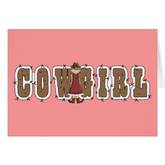 Carte Cow-girl de bonne chance - occidentale