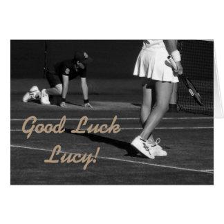 Carte customisible de tennis de bonne chance