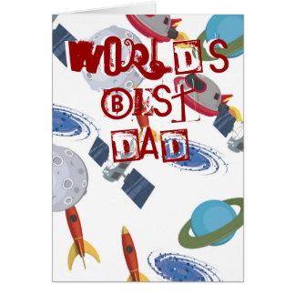 Carte d astronomie de fête des pères
