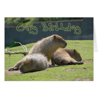 Carte d'anniversaire avec le Capybara
