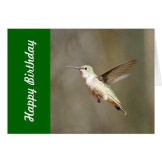 Carte d'anniversaire de colibri