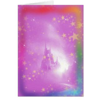 Carte d'anniversaire de l'enfant de château
