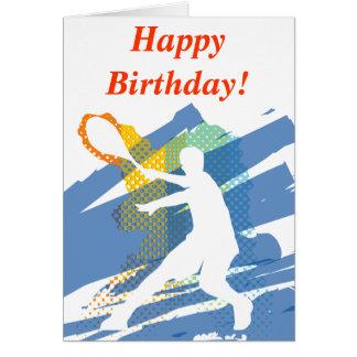 Carte d'anniversaire de tennis