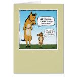 Carte d'anniversaire drôle : Petit cheval