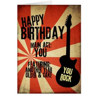 Carte d'anniversaire grunge de rock
