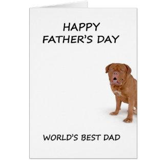 carte de dogue de bordeaux de fête des pères