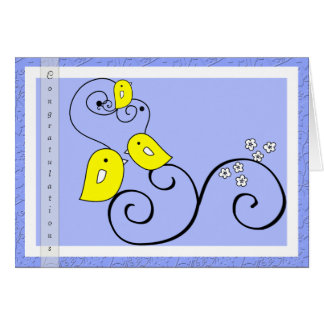 Carte de félicitations de bébé de birdie