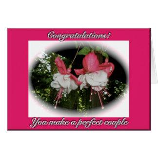 Carte de félicitations de mariage de Fuschia