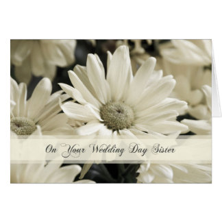 Carte de félicitations de mariage de soeur de
