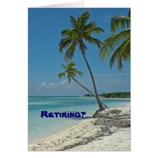Carte de félicitations de retraite de plage