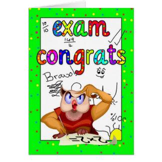 Carte de félicitations d'examen - examen