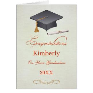 Carte de félicitations d'obtention du diplôme de