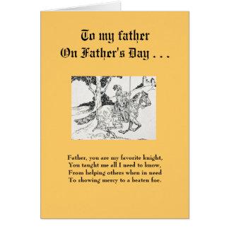 Carte de fête des pères - à mon chevalier préféré