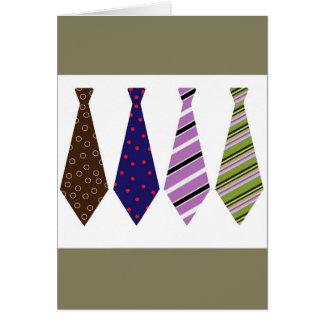 Carte de fête des pères avec des cravates