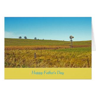 Carte de fête des pères : Campagne de l'Iowa avec