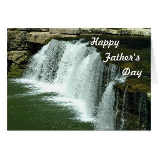 Carte de fête des pères de cascade