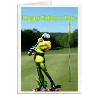 Carte de fête des pères de golf