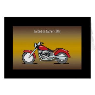 Carte de fête des pères de moto