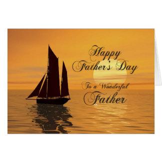 Carte de fête des pères de navigation de soirée