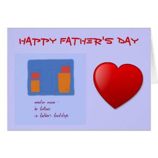 Carte de fête des pères de pas de fils et de père