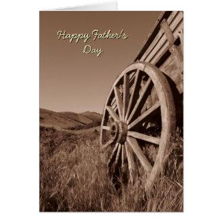 Carte de fête des pères de roues