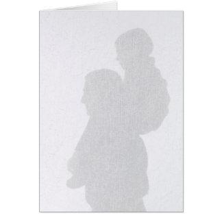 Carte de fête des pères de silhouette