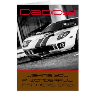 """Carte de fête des pères """"de voiture rapide"""""""